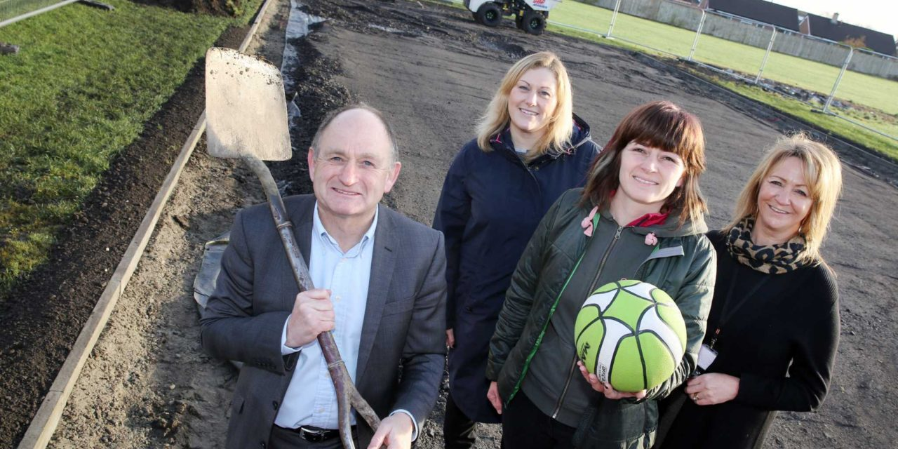 Kick-off for new games area at Stobhill