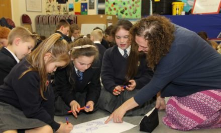 Author inspires flash fiction among pupils
