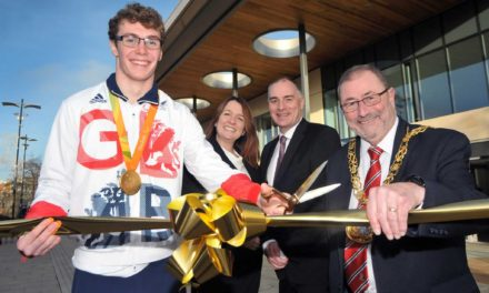 Gold medalist hails new campus a winner