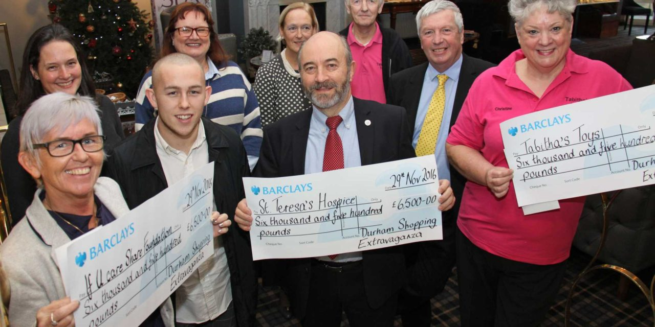 Shopping event organisers hand over £20,000 to charities