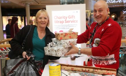 A wrap-solutely fabulous way to raise funds for charity