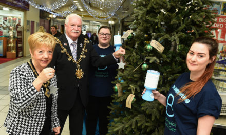 Mayor Pays Tribute at tree of Remembrance