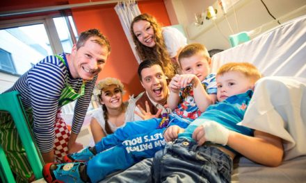 Panto cast visit hospital with pics