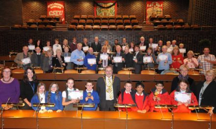 Bloomin lovely gardens recognised at civic awards