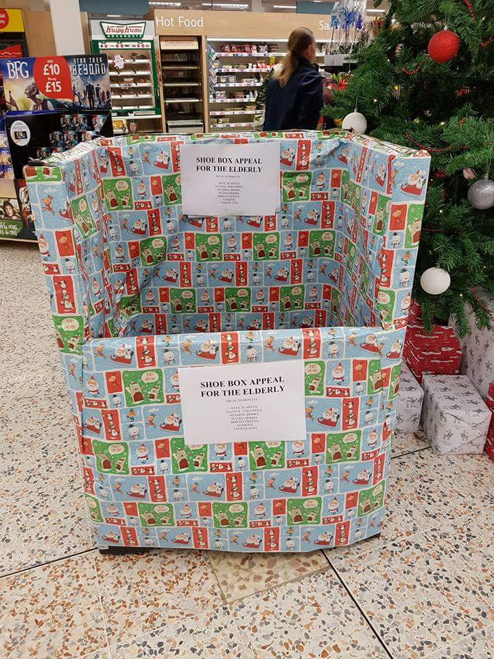 Tesco Xmas Dionations Box North East Connected