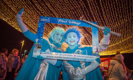Ice stars skate into Sunderland to launch festive village