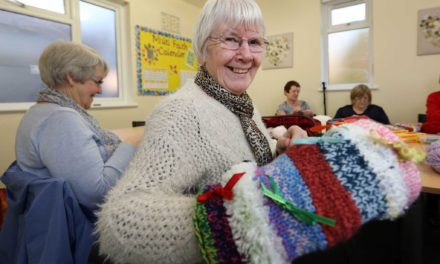 Knitters help Dementia patients across Stockton Borough
