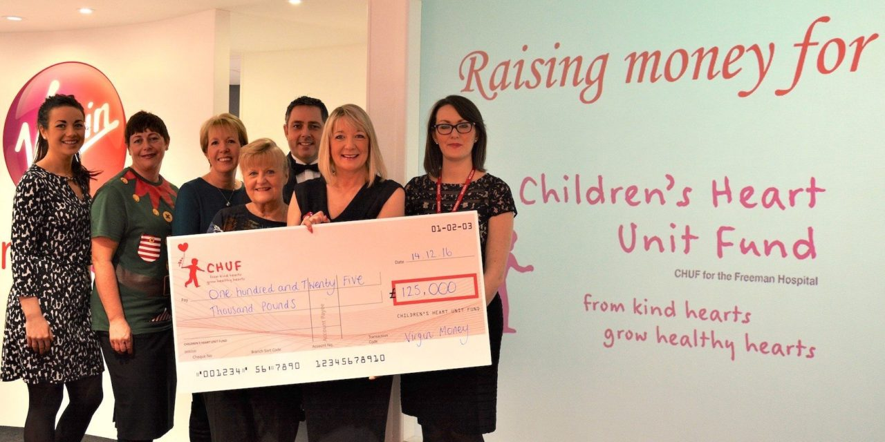 Virgin Money CHUFFED with charity auction total