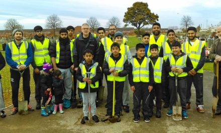 Community group's cemetery tree planting