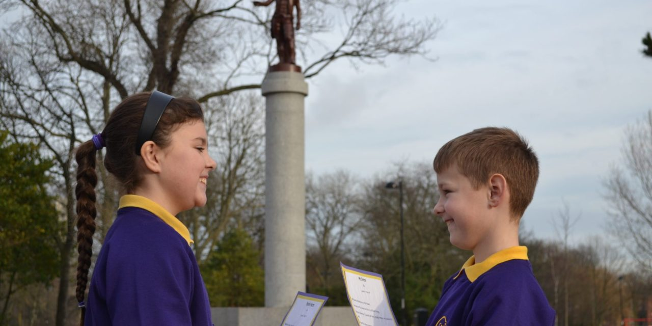 Young people from Walker perform poem to Robert Burns