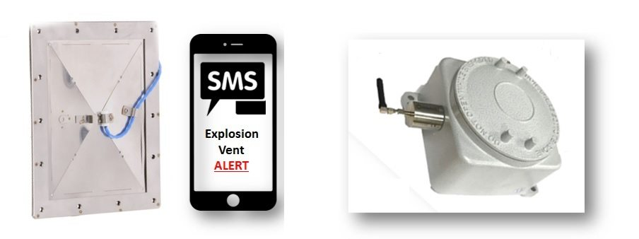 Receive instantaneous notification of Explosion Vent activation straight to  your mobile phone!