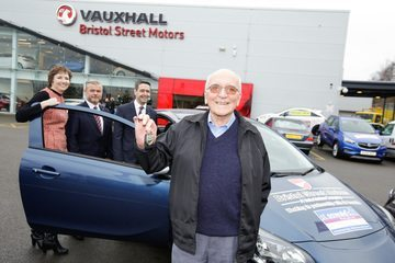 Charity raffle sees great grandfather win car from Bristol Street Motors