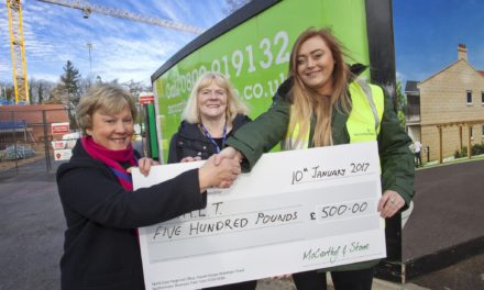 Housebuilder provides, boost for local charity, Scarborough and locals together