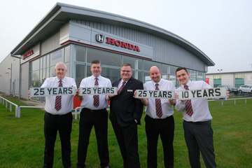 170 years of long service recognised by Vertu Honda Stockton