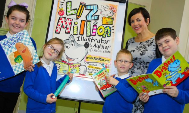 Author inspires children as nationwide story competition launched
