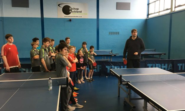 World Champion Visits Bishop Auckland Table Tennis club