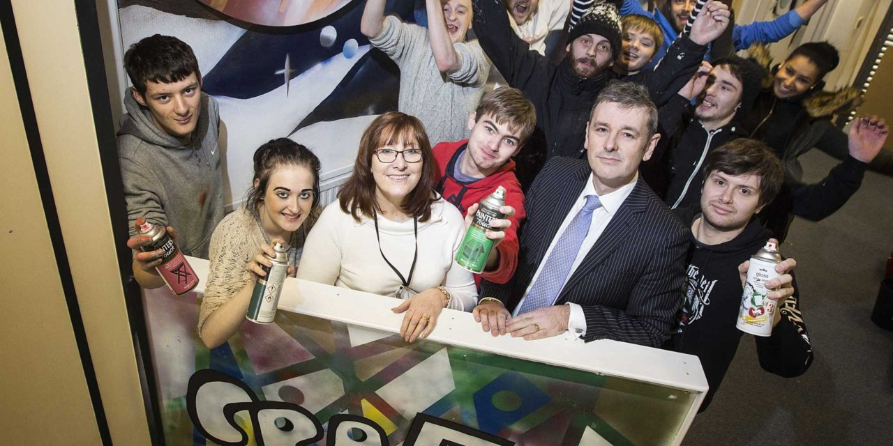 Charity smiles again as young unemployed re-create much-loved murals