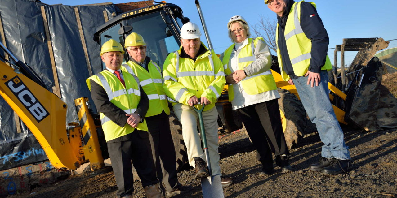 Work on the £1.3 million scheme in Newbiggin gets underway