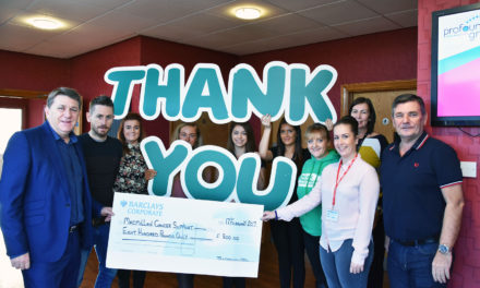 Training firm's fundraising support for cancer charity