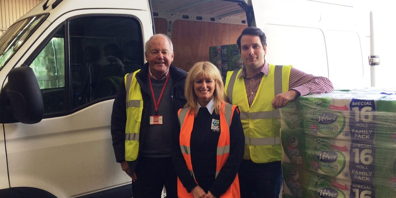 Tissue maker backs local food bank with bumper donation