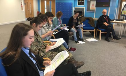 Sunday for Sammy – Walker Talk – Students read play for first time