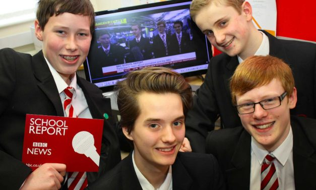 Budding reporters work for the BBC