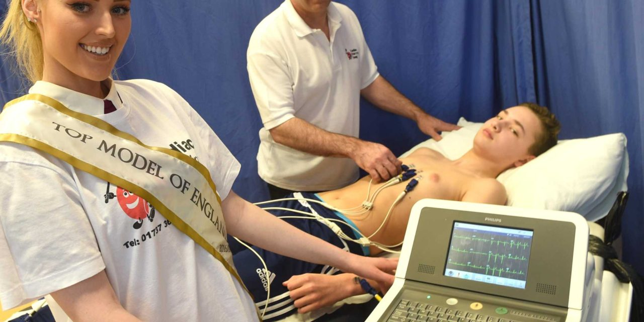 Karen's CRY for James helps kick off heart screening sessions