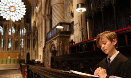 School choir sings Evensong at Durham Cathedral