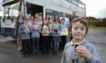 Stockton students book their seat on library bus