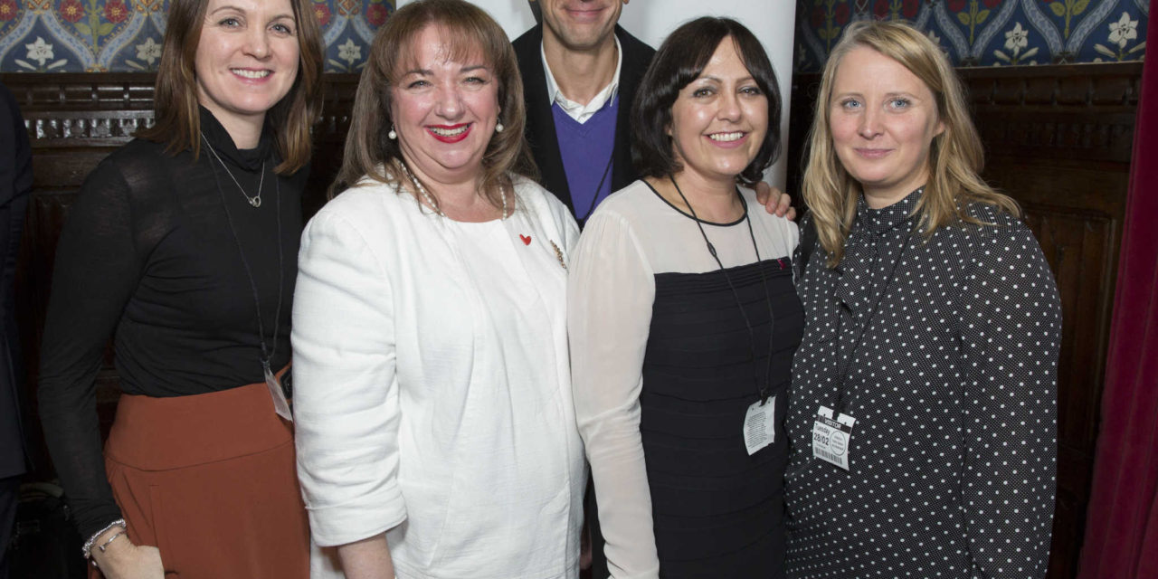 Saks hairdressers visit House of Commons for cancer charity afternoon tea