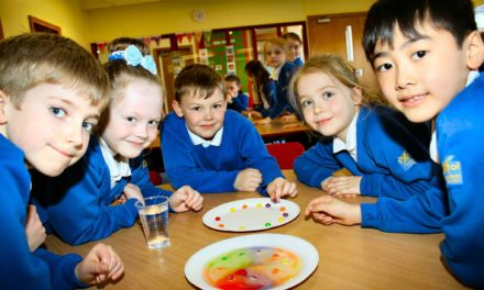 Students learn about the colourful appliance of science