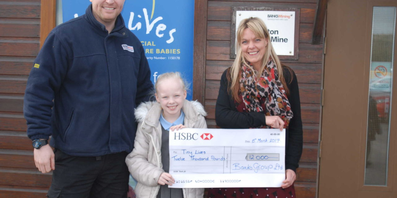 Banks Group Staff Raise £12,000 for Tiny Lives Trust in Little Lola-Rose's Name