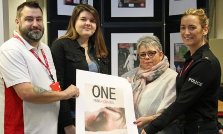Students help campaign to raise awareness of one punch deaths