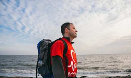Trail of two hearts: Heart transplant patient walks the Yorkshire coastline as part of a nation-wide trek for British Heart Foundation