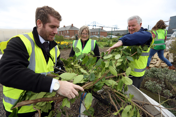 Travis Perkins volunteers transform Stockton community garden