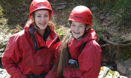Students take on gorge walking on Lakes residential
