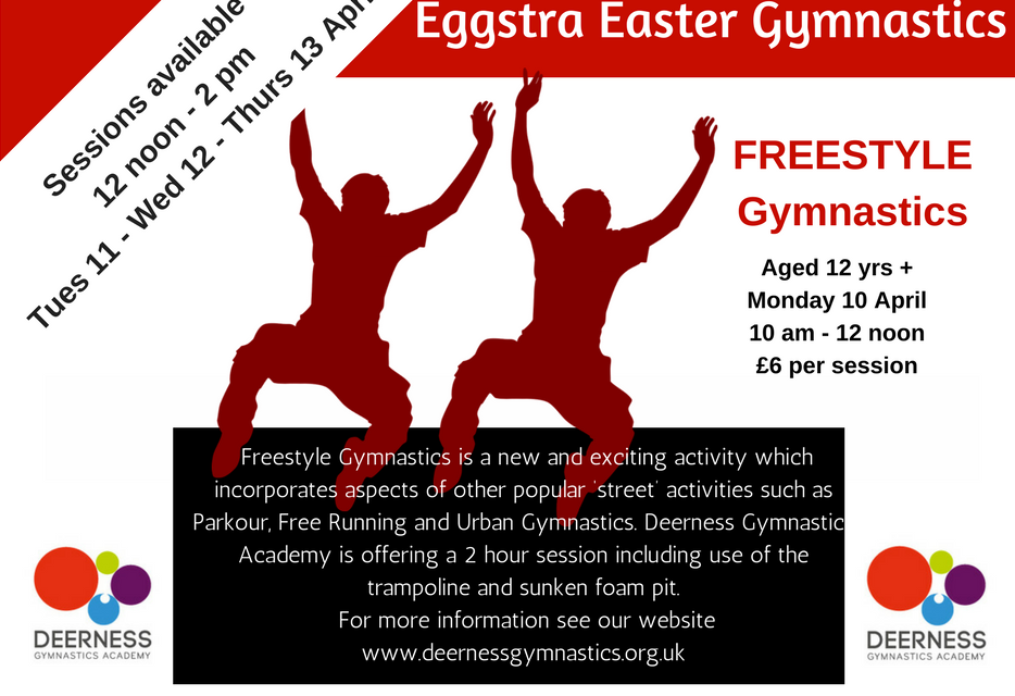 Eggstra Easter Gymnastics on offer in Durham Next Week