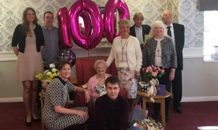 Ethel celebrates 100 th birthday at Ingleby Care Home