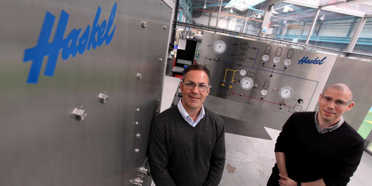 Haskel develops test cell room with global potential