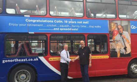 Next stop retirement for Go North East's Colin