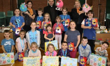 Pupils scramble to win Easter egg contest
