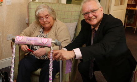 Stockton Borough Care Homes Residents make Zimmers Shimmer