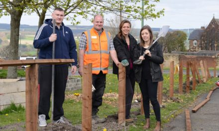 Blackhill community garden project given welcome boost by Karbon Homes