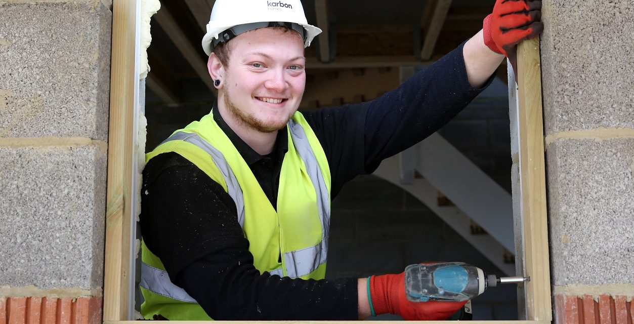 Apprentice Jake gains valuable on-site training