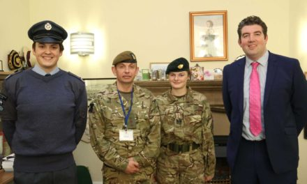Cadets on parade for army top brass