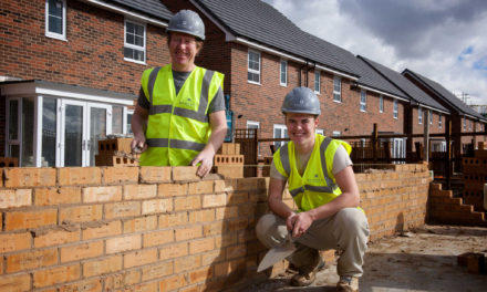 Father and son bricklayers team up with Barratt Developments to combat housing shortage