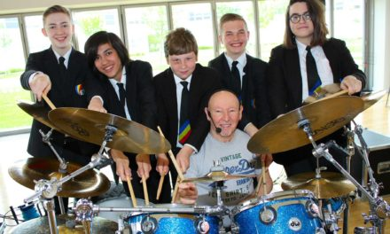 Status Quo drummer leaves students feeling upbeat