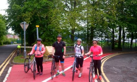 School staff and supporters brave the Coast to Coast  for outdoor learning equipment