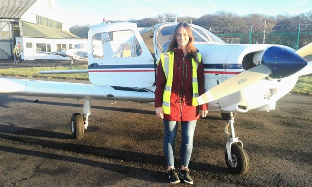 Flying chemist takes to the skies