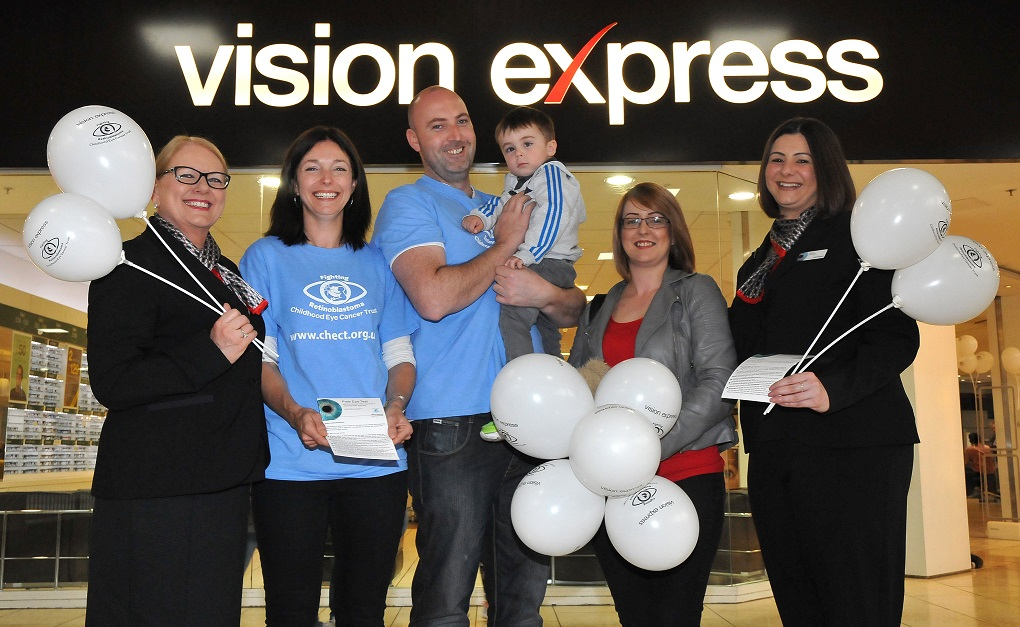 North East parents' eyes opened to rare childhood cancer at Vision Express drop-in clinic